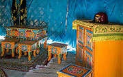 Oryginalna tatarska jurta wraz z wyposażeniem - wnętrze, Kruszyniany, Polska<br /> Original Tartar yurt along with the equipment - inside, Kruszyniany, Poland