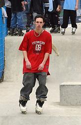 Skateboard park at Exhibition Park; Newcastle-upon-Tyne; NE England; UK