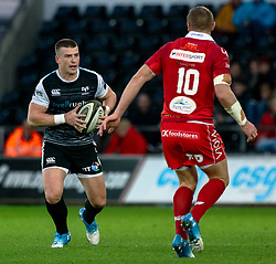 Scott Williams of Ospreys<br /> <br /> Photographer Simon King/Replay Images<br /> <br /> Guinness PRO14 Round 11 - Ospreys v Scarlets - Saturday 22nd December 2018 - Liberty Stadium - Swansea<br /> <br /> World Copyright © Replay Images . All rights reserved. info@replayimages.co.uk - http://replayimages.co.uk