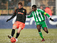 Fotball<br /> Frankrike<br /> Foto: DPPI/Digitalsport<br /> NORWAY ONLY<br /> <br /> FOOTBALL - UEFA CUP 2008/2009 - GROUP STAGE - GROUP G - 17/12/2008 - AS SAINT ETIENNE v VALENCIA CF - JOAQUIN (VAL) / BLAISE MATUIDI (ASSE)