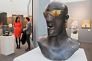 Goggle Head by Elisabeth Frink in The Ingram Collection part of the Lightbox display- The 29th edition of London Art Fair takes place in the Business and Design Centre, Islington, from18-22January 2017.