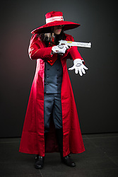 © Licensed to London News Pictures . 26/07/2015 . Manchester , UK . Portrait : ALUCARD ( Joe Dunsford , 18 , from Urmston ) at the venue . Comic Con convention at Manchester Central Convention Centre . Photo credit : Joel Goodman/LNP