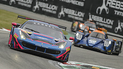 May 11, 2019 - Monza, MB, Italy - KESSEL RACING Ferrari 488 GTE EVO (Gostner, Frey and Gatting) at high speed Ascari chicane in Monza during Free Practice Session 2 of ELMS italian round. (Credit Image: © Riccardo Righetti/ZUMA Wire)