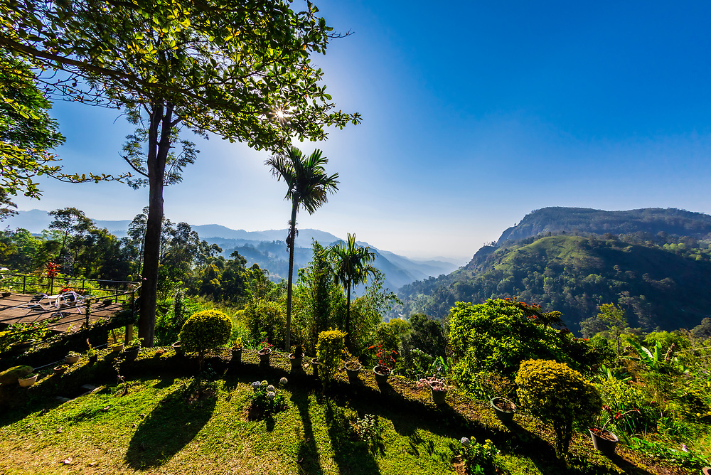 View from Ambiente Guest House, above Ella, Uva Province, Sri Lanka.