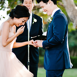 A wedding at the historic Adamson House in Malibu, California. This wedding was published in Style Me Pretty.