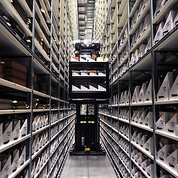 © London News Pictures. 2011/01/14 .The Bodleian Book Storage Facility (BSF) in Swindon, UK,  'ingests' its one millionth item, the book 'Journal of General Physiology Volume 1 1918-1919' on Friday, 14 January 2011. It has been achieved in just under three months and has required an average daily ingest rate of 19,000 books and periodicals per day by 32 staff. On peak days, and depending on the materials, as many as 42,000 items have been ingested. . Picture credit should read Stephen Simpson/LNP