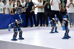 May 26, 2019 - Huainan, Huainan, China - Huainan, CHINA-College students attend the robot contest held in Huainan,east China's Anhui Province. (Credit Image: © SIPA Asia via ZUMA Wire)