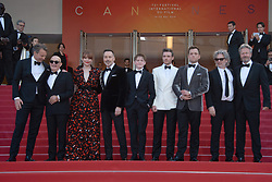 Gilles Martin, Bernie Taupin, Bryce Dallas Howard, David Furnish, Kit Connor, Richard Madden, Taron Egerton and director Dexter Fletcher attending the Rocketman Premiere as part of the 72nd Cannes International Film Festival in Cannes, France on May 16, 2019. Photo by Aurore Marechal/ABACAPRESS.COM