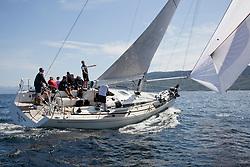 Silvers Marine Scottish Series 2017<br /> Tarbert Loch Fyne - Sailing<br /> <br /> GBR7745R, Eala of Rhu, J McGarry / C Moore, RNCYC, Swan 45.<br /> <br /> Credit Marc Turner / PFM