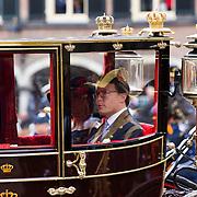 NLD/Den Haag/20130917 -  Prinsjesdag 2013, Prins Constantijn en prinses Laurentien in de glazen koets