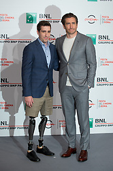 October 28, 2017 - Rome, Italy - Jake Gyllenhaal and Jeff Bauman attend photocall for 'Stronger' during the 12th Rome Cine Fest at Auditorium Parco Della Musica in Rome, Italy on 28 October 2017. (Credit Image: © Giuseppe Maffia/NurPhoto via ZUMA Press)