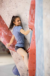 Lana Skusek during training competition of Slovenian National Climbing team before new season, on June 30, 2020 in Koper / Capodistria, Slovenia. Photo by Vid Ponikvar / Sportida