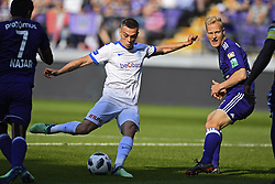 May 20, 2018 - France - Leandro Trossard forward of KRC Genk scores 0-1 during the Jupiler Pro League play off 1 match (Credit Image: © Panoramic via ZUMA Press)