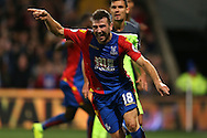 GOAL /   James McArthur of Crystal Palace celebrates after scoring his sides 2nd goal to make it 2-2. Premier League match, Crystal Palace v Liverpool at Selhurst Park in London on Saturday 29th October 2016.<br /> pic by John Patrick Fletcher, Andrew Orchard sports photography.