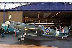 "© Licensed to London News Pictures. File picture dated 13/12/2012. Bristol, UK. The Mark IX Spitfire circa 1943 prepares to take of at Filton Airfield. Engineers race to finish work rebuilding a Mark IX Spitfire fighter circa 1943, at Filton airfield near Bristol. The plane has been rebuilt  by John Hart engineering, it is the last plane to be completed at the airfield and was flown out on 18 December 2012 by pilot Bill Perrins. Filton, the birthplace of the British-built Concorde jets, is to close on Friday (21st December 2012). Its owner BAE Systems says it is not viable and intends to sell it for housing and business development. BAE Systems said the airfield was closing following a comprehensive assessment over a five-year period and an independent review, ""both of which concluded that the airfield was not economically viable"".  Airbus has said it is fully committed to the Filton site, where it has a base making aircraft wings.  A spokesman said: ""The closure of the airfield will have no significant effect on our business and we have mitigation plans in place regarding the change of venue for our passenger shuttle (using Bristol airport) and the transportation of the A400M wings (via Portbury docks).  Planes currently based at Filton will have to find new homes. The airfield officially closes for flights this Friday, though the police helicopter will still be based there. BAE is supporting a new museum at Filton to ""house Concorde Alpha-Foxtrot and Bristol's aviation heritage."".Photo credit : Simon Chapman/LNP"