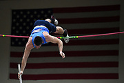 Matt Ludwig places second in the elite men's competition at 19-0 1/4 (5.80m) during the National Pole Vault Summit, Friday, Jan. 17, 2020, in Reno, Nev.