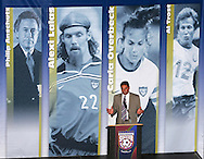 28 August 2006: Former US Women's National Team coach Tony DiCicco presented 2006 Hall of Fame inductee Carla Overbeck (not pictured) for enshrinement. The National Soccer Hall of Fame Induction Ceremony was held at the National Soccer Hall of Fame in Oneonta, New York.