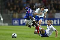 Fotball<br /> Foto: Dppi/Digitalsport<br /> NORWAY ONLY<br /> <br /> FRANKRIKE v BOSNIA HERZEGOVINA<br /> <br /> 18/08/2004<br /> <br /> BERNARD MENDY (FRA) / SERGEJ BARBAREZ (BOS)