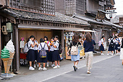 Views and scenes at Ise Shrine and the nearby tourist town.