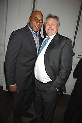 Left to right, chefs AINSLEY HARRIOTT and BRIAN TURNER  at a party to promote The Landau at The Langham, Portland Place, London W1 on 7th February 2008.<br /><br />NON EXCLUSIVE - WORLD RIGHTS