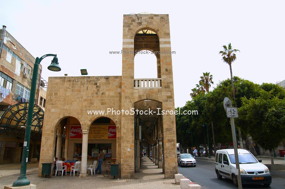 Israel, Jaffa, Jerusalem Boulevard, arched passage