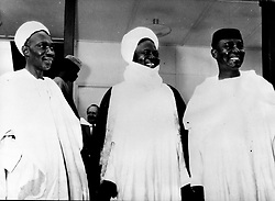 Jan. 16, 1966 - Lagos, Nigeria - ABUBAKAR TAFAWA BALEWE was a Nigerian politician, and the only Prime Minister of an independent Nigeria. PICTURED: Balewe with the chief of the Northern Region SIR AHMADU BELLO called Sardona of Sokoto, and DR. NNAMDI AZIKIWE.  (Credit Image: © Keystone Press Agency/Keystone USA via ZUMAPRESS.com)