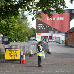 Swindon County ground now being used to test for COVID19 virus testing possible testing up to three hundred people per day May 2020