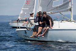 Silvers Marine Scottish Series 2017<br /> Tarbert Loch Fyne - Sailing<br /> <br /> GBR7031N, CRHU, Neill Ross, RNCYC, Hunter 707 OD<br /> <br /> Credit Marc Turner / PFM