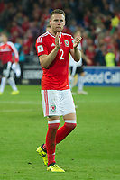 Football - 2017 / 2018 _Wales v Austria_FIFA World Cup Qualifier 2018<br /> <br /> Chris Gunter of Wales applauds the fans after victory--- at Cardiff City Stadium.<br /> <br /> COLORSPORT/WINSTON BYNORTH