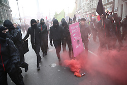 © Licensed to London News Pictures. 04/11/2015. London, UK.   Students demonstrate in central London over tuition fees and cuts. Photo credit: Peter Macdiarmid/LNP