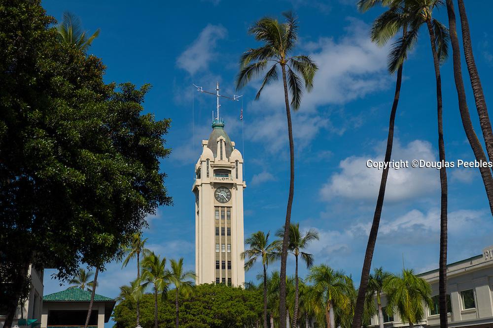 Aloha Tower, Honolulu Harbor, Oahu, Hawaii