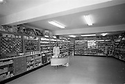 12/06/1967<br /> 06/12/1967<br /> 12 June 1967<br /> Interior and exterior of Freynes and Co. Ltd. Chemist, Clondalkin Dublin. Interior view of shop and staff.
