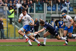 March 17, 2018 - Rome, Italy - Jake Polledri of Italy during the NatWest 6 Nations Championship match between Italy and Scotland at Stadio Olimpico, Rome, Italy on 17 March 2018. (Credit Image: © Giuseppe Maffia/NurPhoto via ZUMA Press)