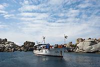 Dive boat 'Galiote'<br /> France: Corsica, Lavezzi Islands,
