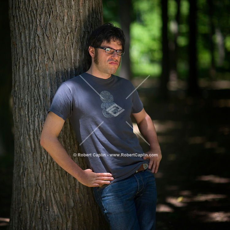 Actor Jemaine Clements poses for a portrait in Prospect Park in Brooklyn, New York. May 29, 2007.