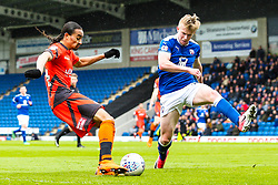 Randell Williams of Wycombe Wanderers takes on George Smith of Chesterfield  - Mandatory by-line: Robbie Stephenson/JMP - 28/04/2018 - FOOTBALL - Proact Stadium - Chesterfield, England - Chesterfield v Wycombe Wanderers - Sky Bet League Two