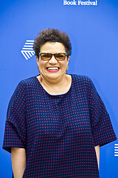 Pictured: Jackie Kay MBE FRSE is a Scottish poet and novelist. She is the third modern Makar, the Scottish poet laureate.<br /> <br /> Book fanatics headed to Charlotte Square in Edinburgh which is the hub of the international Book Festival to meet the authors and also to meet up with fellow fans of the printed word.<br /> <br /> <br /> Ger Harley | EEm 16 August 2017