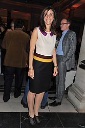 JULIA BRADBURY at the 50th birthday party for Jonathan Shalit held at the V&A Museum, London on 17th April 2012.
