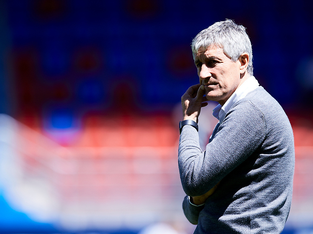 Eibar, Guipuzcoa ,Spain, 05/05/2019 . Quique Setien  during the LA LIGA SOCCER MATCH between S.D EIBAR VS REAL BETIS BALOMPIE at Ipurua stadium.