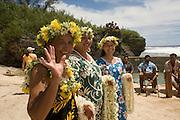 Welcoming CeremoneyAitu Island, Cook Islands, Polynesia