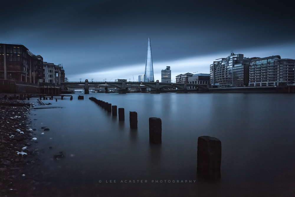 Another Long Exposure from last weeks shoot by the Thames. This was just under 2 minutes, it needed to be 3 really but the heavens opened so had ot quickly end the exposure, just enough there to salvage in Lightroom though.