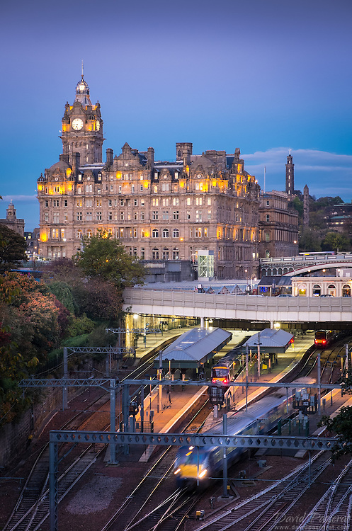 Arriving by train to Edinburgh for the first time is a unique experience. The main station  is built below the city center so you are immersed immediately in it's history.