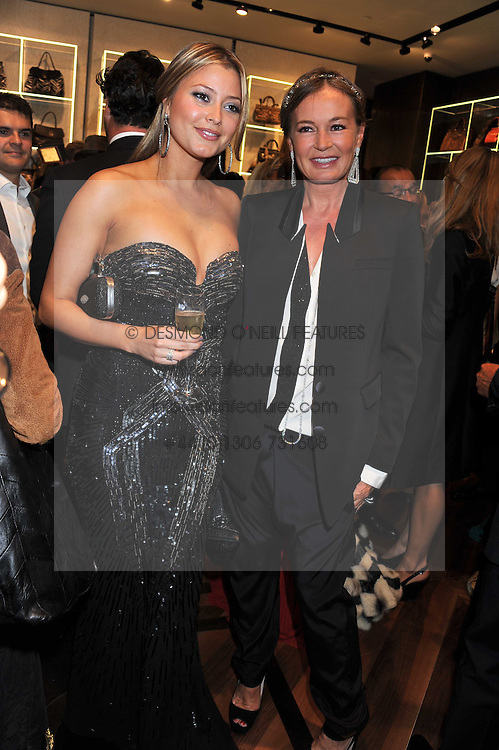 Left to right, HOLLY VALANCE and EVA CAVALLI at a party hosted by Roberto Cavalli to celebrate his new Boutique's opening at 22 Sloane Street, London followed by a party at Battersea Power Station, London SW8 on 17th September 2011.