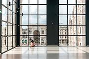 Milan, Italy, Museo del 900 overlooking Piazza del Duomo