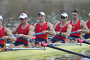 Sydney, Australia.   Interstate Men's Eight , South Australia's, move away from the start pontoon at the Kings and Queen's  Cup Interstate Regatta, combined with the FISA World Cup I. and  Sydney International Rowing Regatta. Sydney International Rowing Centre, Penrith Lakes, NSW.   Saturday   23/03/2013 [Mandatory Credit. Peter Spurrier/Intersport Images]..