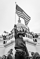 Protesters storm the United States Capitol during a violent riot and attack against the 117th United States Congress meeting to formally ratify Joe Biden as the winner of the 2020 Presidential election on Wednesday, Jan. 6, 2021. -- Photo by Jack Gruber, USA TODAY