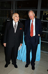 Left to right, LORD WEIDENFELD and LORD ROTHSCHILD at the opening of 'Princely Splendour; The Dresden Court 1580-1620' a new temporary exhibition at The Gilbert Collection, Somerset House, London sposored by Hubert Bruda Media, The Schroder Family and WestLB AG on 8th June 2005.<br />