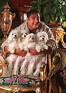 Samy, the guru of hairstyling, at his home in Miami.