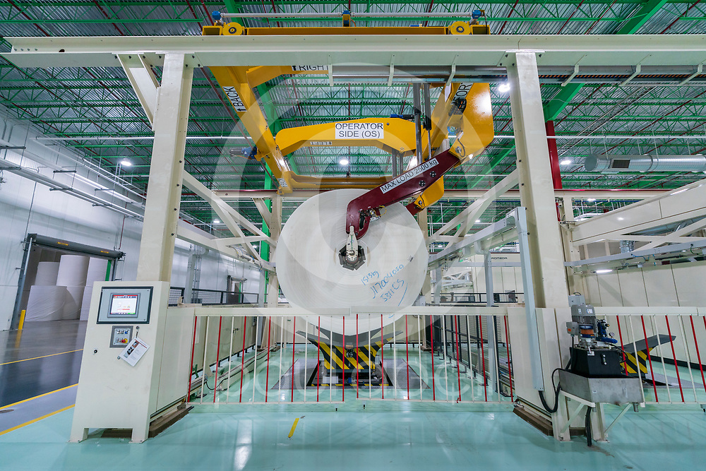 General images of machines and facilities at the Irving tissue plant, Oct. 11, 2019 in Macon, Ga. This imagery was taken for the grand opening event. (Paul Abell via Abell Images for Colonial Pipeline Company)