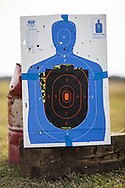 Target at an outdoor shooting range.